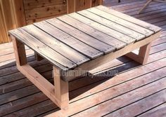 12 DIY Recycled Pallet Tables - Pallet outdoor table.