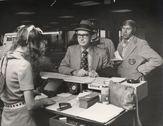 Great vintage photo of a temporary ticket counter in 1974, when Southwest moved to the west concourse at Dallas Love Field