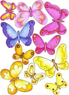 Butterfly Clip Art, Butterfly Drawing, Butterfly Pictures, Butterfly Wallpaper, Butterfly Cards, Cartoon Butterfly, Paper Butterflies, Simple Doodles, Flower Clipart
