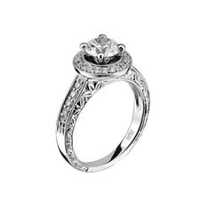 Scott Kay Luminaire 14-Karat White Gold & Diamond Semi-Mount Engagement Ring