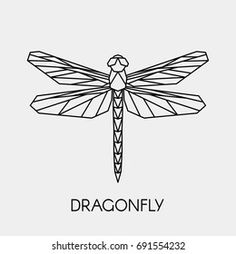 Dragonfly Drawing, Dragonfly Art, Dragonfly Tattoo, Geometric Drawing, Geometric Designs, Geometric Shapes, Geometric Flower, Geometric Wedding, Geometric Logo