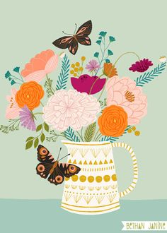 Illustrations — bethan janine Source by Summertrends.club Hint:Use navigation buttons to navigate … Plant Illustration, Pattern Illustration, Botanical Illustration, Digital Illustration, Guache, Floral Illustrations, Planner, Surface Pattern Design, Watercolor Flowers