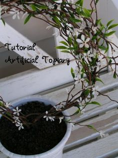 Tea Rose Home: Tutorial--Topiary for people who don't have a green thumb-- Dream Garden, Home And Garden, Artificial Topiary, Tea Roses, Indoor Garden, Houseplants, Decor Crafts, Garden Landscaping, Planting Flowers
