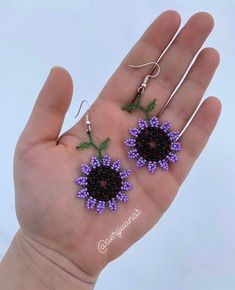Jewelry OFF! Excited to share this item from my shop: Purple Lavender Pearl Sunflower Huichol Beaded Earrings Seed Bead Earrings Flower Earrings Beaded Jewelry Women's Jewelry Beaded Earrings Patterns, Seed Bead Earrings, Bracelet Patterns, Flower Earrings, Bead Patterns, Seed Beads, Seed Bead Flowers, Beaded Flowers, Beard Jewelry