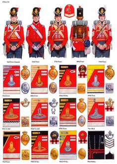 British Army Uniforms.