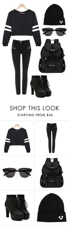 """""""Untitled #1"""" by jienvillena ❤ liked on Polyvore featuring Wallis, Yves Saint Laurent, Sherpani and True Religion"""