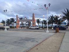 Postal del centro, Puerto Morelos, Quintana Roo.
