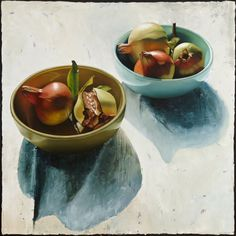 © Julie Davidson 2013Still life with two bowls and pomegranatesOil on linen122 x 122 cm$6600 | Available