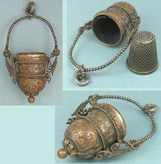 antique thimble holders