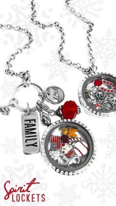 #Christmas Time #Spirit #Lockets #Gingerbreadman #snowflake
