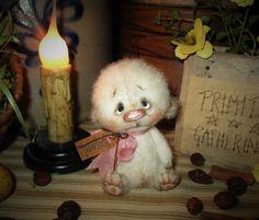 "Primitive 3"" Bear Patti's Ratties Jointed Doll Easter Rabbit Raggedy Ann Artist"