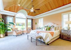 """The fresh, cheery palette of this Rehoboth Beach, Delaware home built by Schell Brothers and designed by Echelon Interiors had me at hello! The breezy blue throughout (Sherwin-Williams """"Water…"""