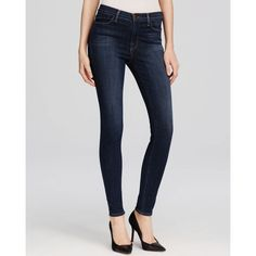 J Brand Maria Skinny Jeans in Oblivion ($198) ❤ liked on Polyvore