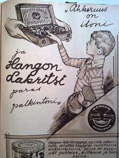 Old Commercials, Old Ads, Old Photos, Finland, Vintage Posters, Retro Vintage, Nostalgia, Advertising, Haku