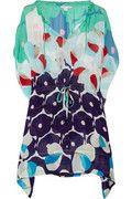 Zaila printed silk-blend voile mini dress
