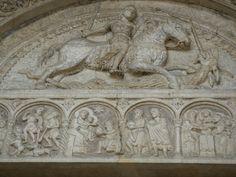 Nicolò. San Giorgio. Lunetta del portale centrale della Cattedrale di Mantova. 1135