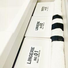 Instagram media by megu.k1016 - 洗面下収納 見直し〜!ストック類を上の棚で ここはこどもの下着類  そして、ボックスもダイソーからニトリへチェンジ〜〜! サイズ感◎ 手前スペースあったので バスタオル置いてみました!  #monotone #instapic #blackandwhite #vscopic #powderroom#収納#洗面所#洗面下#引き出し収納#ニトリ#しましま #モノトーン#白黒マニア#白黒界 #白黒会#白黒化 #ラベル#自作ラベル#バスタオル