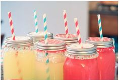 Mason Jar, Cupcake Paper, Corful Straws