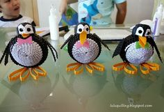 Penguins - by: Lulu's Quilling Lab