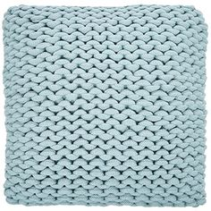 Medium Teal Cable Knit Square Cushion
