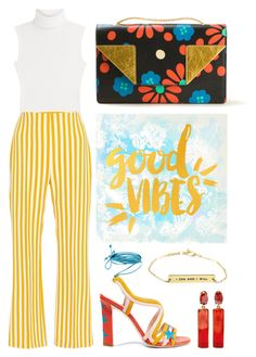 """Good Vibes"" by cherieaustin ❤ liked on Polyvore featuring Diane Von Furstenberg, Clover Canyon, Yves Saint Laurent, Paula Cademartori and Oscar de la Renta"
