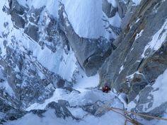 Face Nord des Grandes Jorasses (Massif du Mont Blanc)