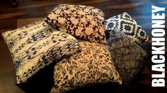 #IndigoCollection at #Blackhoney Studio MG road Pune. Assorted set of Jute cushion covers for an ethnic touch towards home decor.