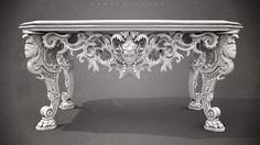 Ornate Table, Jamir Blanco on ArtStation at…