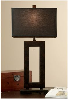 Brighten up your dwelling with this contemporary metal table lamp. This chic lamp features a painted mocha finish and a charcoal-colored fabric shade. Its stylish and modern design will complement virtually any room within your abode. Night Lamp For Bedroom, Night Table Lamps, Brown Table Lamps, Table Lamps For Bedroom, Metal Table Lamps, Kids Bedroom, Bedroom Furniture, Bedroom Ideas, Mocha