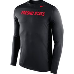 Fresno State Bulldogs Nike Warp Speed Legend Performance Long Sleeve T-Shirt – Anthracite/Red - $38.94
