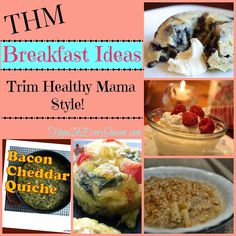 Recipes: THM Breakfast Recipes --- Starting Your Morning the Trim Healthy Mama Way! Low Carb Breakfast