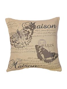 Maison Butterfly Tapestry Cushion Grey | Ponden Homes