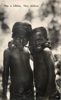 Liberian children  what beautiful eyes they both have