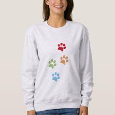 Dog footprint sweatshirt - dog puppy dogs doggy pup hound love pet best friend