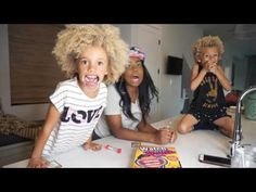 Jamie Grace playing watch ya mouth game with Stella and Blaze. This is sooooo funny!!! 🤣🤣🤣