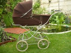 Vintage Crib, Prams And Pushchairs, Baby Carriage, Yellow And Brown, Old And New, Cribs, Baby Strollers, Children, Youth