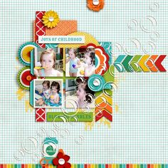 #papercraft #scrapbook #layout.  Awesome Summer - Bubble Fun by Jady Day Studio