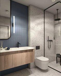Bathroom Design Inspiration, Bathroom Interior Design, Interior Livingroom, Bathroom Renos, Small Bathroom, Terrazzo, Contemporary Bathroom Designs, French Home Decor, Home Decor Kitchen