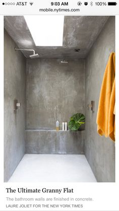 Different take on a wet room, no tile