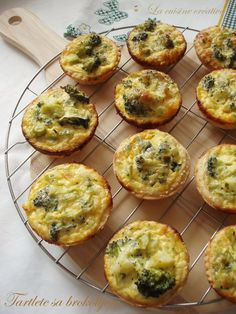 Broccoli and cheese tartlets