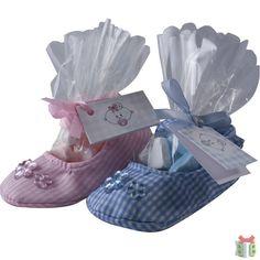 schoentje roze en blauw