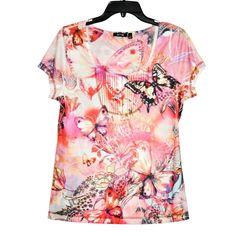 2a6b71b61c06 Apt.9 Women s Top Print Short Sleeve size M NEW  Apt9  Blouse  Casual