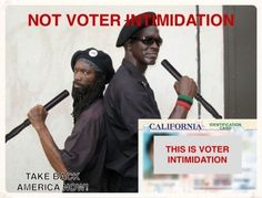 """How does the I.D. required by every other government agency suddenly become """"voter intimidation"""" or """"racist"""" if required at the polling place?"""