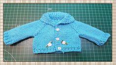 Tutorial:  Chaqueta de punto para muñecas / knit jacket for dolls tutorial by Pepitas de Chocolate