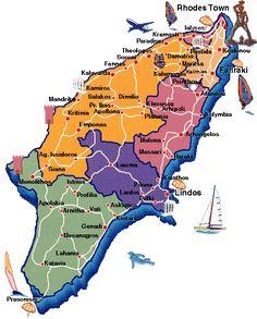 Harta Rodos, harta insula Rodos