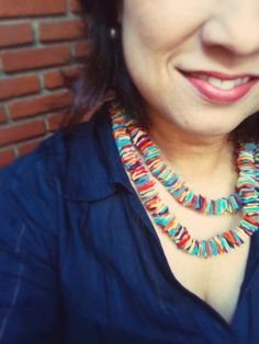Colar de feltro. Necklace diy