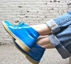 blue shoes from @Lauren Clark USA