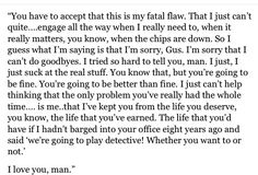 One of two times I ever cried at Psych. The other was when Lassie and Jules said goodbye in his office.