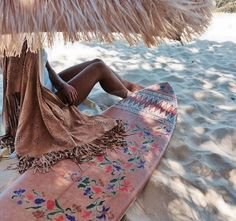 Beach + Awesome Surfboard + Summer + Chilling + Shade