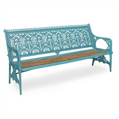 CHRISTOPHER DRESSER (1834-1904) FOR THE COALBROOKDALE COMPANY 'WATER PLANT' CAST IRON GARDEN BENCH, CIRCA 1975 Cast Iron Garden Bench, Cast Iron Bench, Christopher Dresser, The Saleroom, Patio Seating, Diy Garden Projects, Water Plants, Gardening, Outdoor Ideas